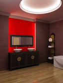 Asian style bathroom interior — Stock Photo