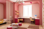 Children's room interior — 图库照片
