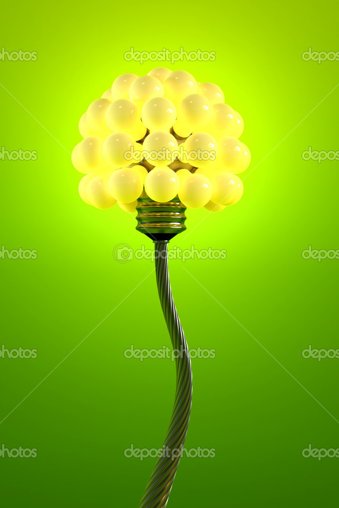 Dandelion made from electric bulbs — Stock Photo #3249372