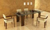 Projeto de sala de jantar — Fotografia Stock