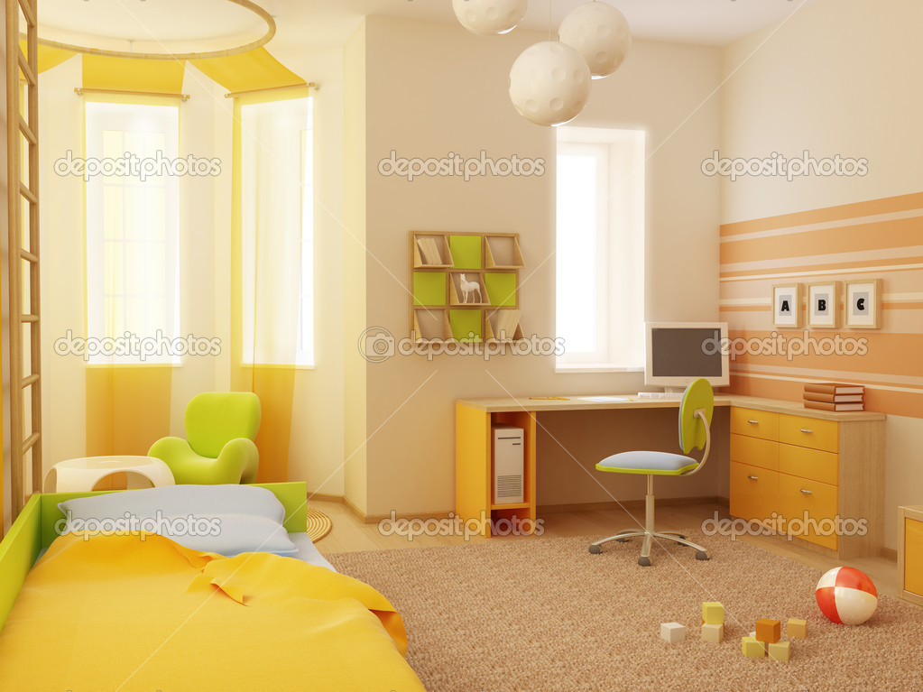 3d interior of the children's room  Stock Photo #3265074