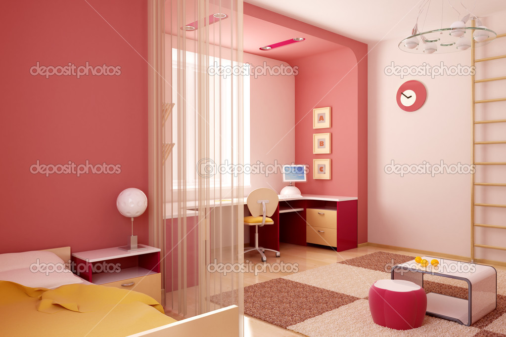 3d interior of the children's room — Stock Photo #3265387