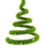 3d symbolic New Year's tree — Stock Photo