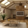 Stock Photo: Rmodern mezzanine interior 3d