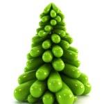 3d symbolic Christmas tree — Stock Photo