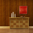 Lounge room with cupboard — Stock Photo