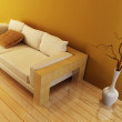 Lounge room with couch — Stock Photo