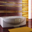 Stock Photo: Staggered tiled design of bathroom