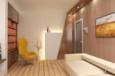 3D render interior — Stock Photo