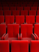Auditorium with red seat — Stock Photo