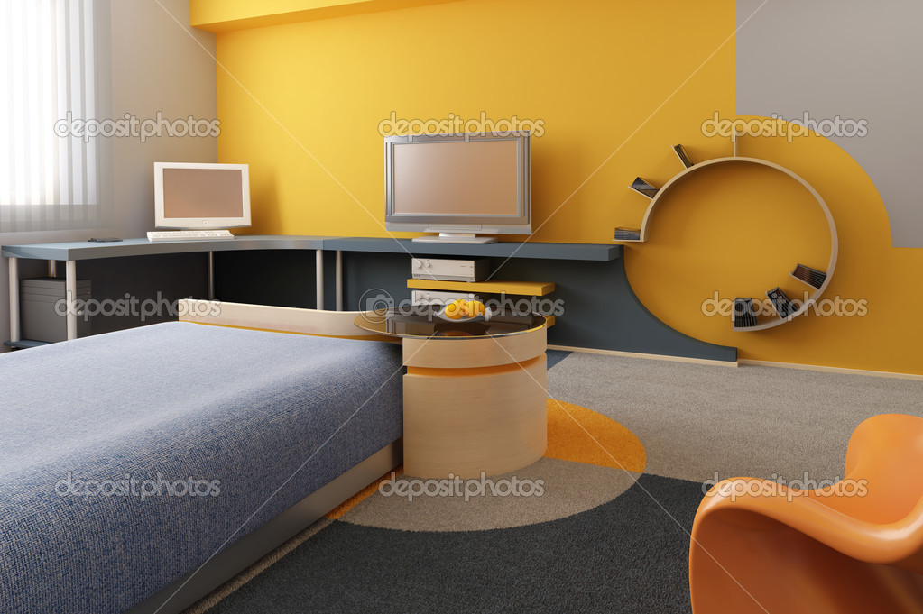 3d interior of the children's room — Stock Photo #3275687