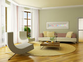 3D render interior — Stockfoto