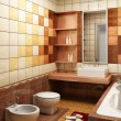 Tiled design of the bathroom - Zdjęcie stockowe