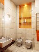 Modern bathroom 3d — Stock Photo
