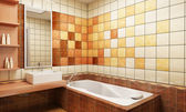 Tiled design of the bathroom — Stockfoto