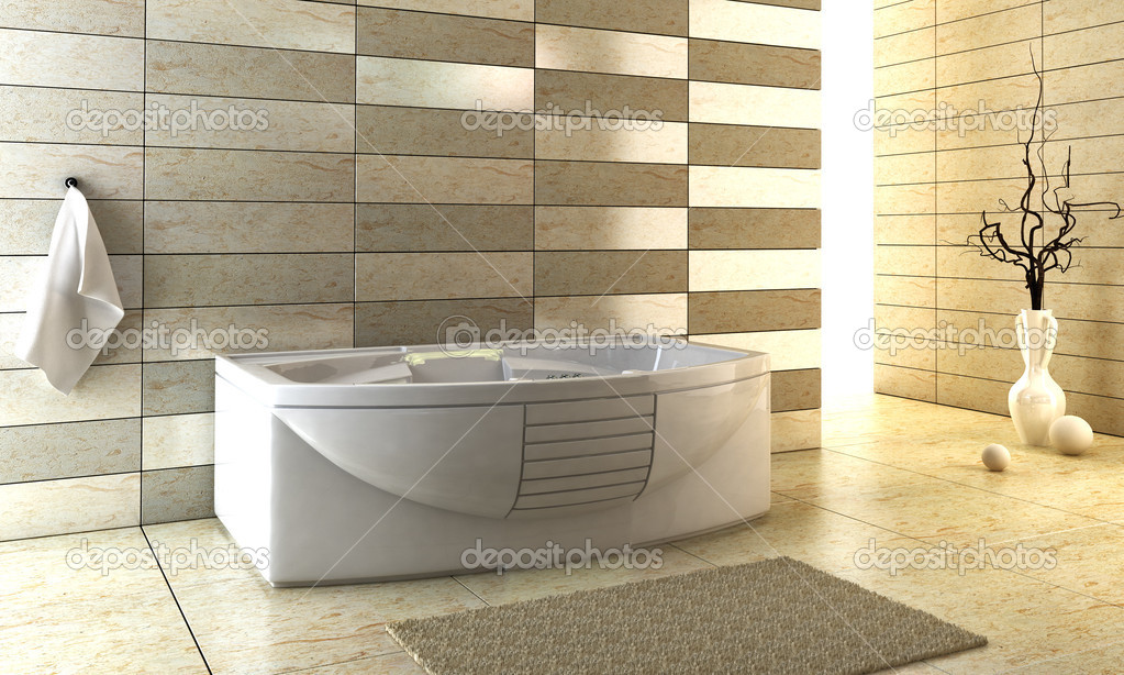 3d rendering of the modern bathroom  Stock Photo #3342481