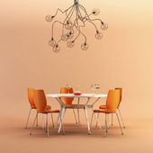 Design of the dining room — Stock Photo