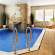 Interior of the swimming pool - Stock Photo