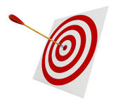 Arrows in the target — Stock Photo