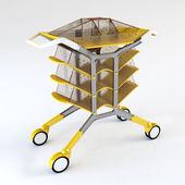 Handcart 3d rendering — Stock Photo