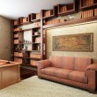 Private office in ancient Greek style - Foto Stock