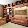 Private office in ancient Greek style - Stock Photo