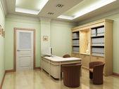 3d office rendering — Stock Photo