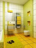 3d bathroom rendering — Stock Photo