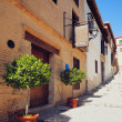 Traditional old Spanish street — Stock Photo