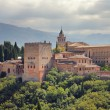 Alhambra palace in Granada, Spain. - Stock Photo