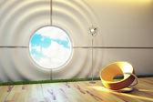 Intérieur de chambre de salon moderne — Photo
