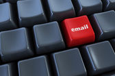Keyboard with email button — Stockfoto