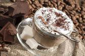 Cafe cappuccino — Stock Photo