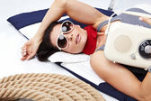 Summer Woman and Sailor fashion style — ストック写真