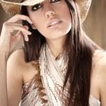 Beautiful Sexy Cowgirl — Stock Photo #3172904