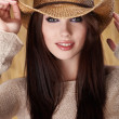 Stock Photo: Beautiful Sexy Cowgirl