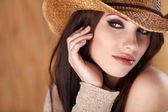 Portrait of a Beautiful Country Woman — Stock Photo