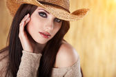 Beautiful Cowgirl — Stock Photo