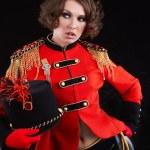 Sexy model wearing glamor uniform — Stock Photo #3218370