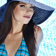 Стоковое фото: Young sexy woman in the pool