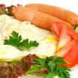 Fried eggs - Foto Stock