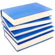 Pile of dark blue books on a white - Stock Photo