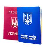 Two passports isolated on white — Stockfoto