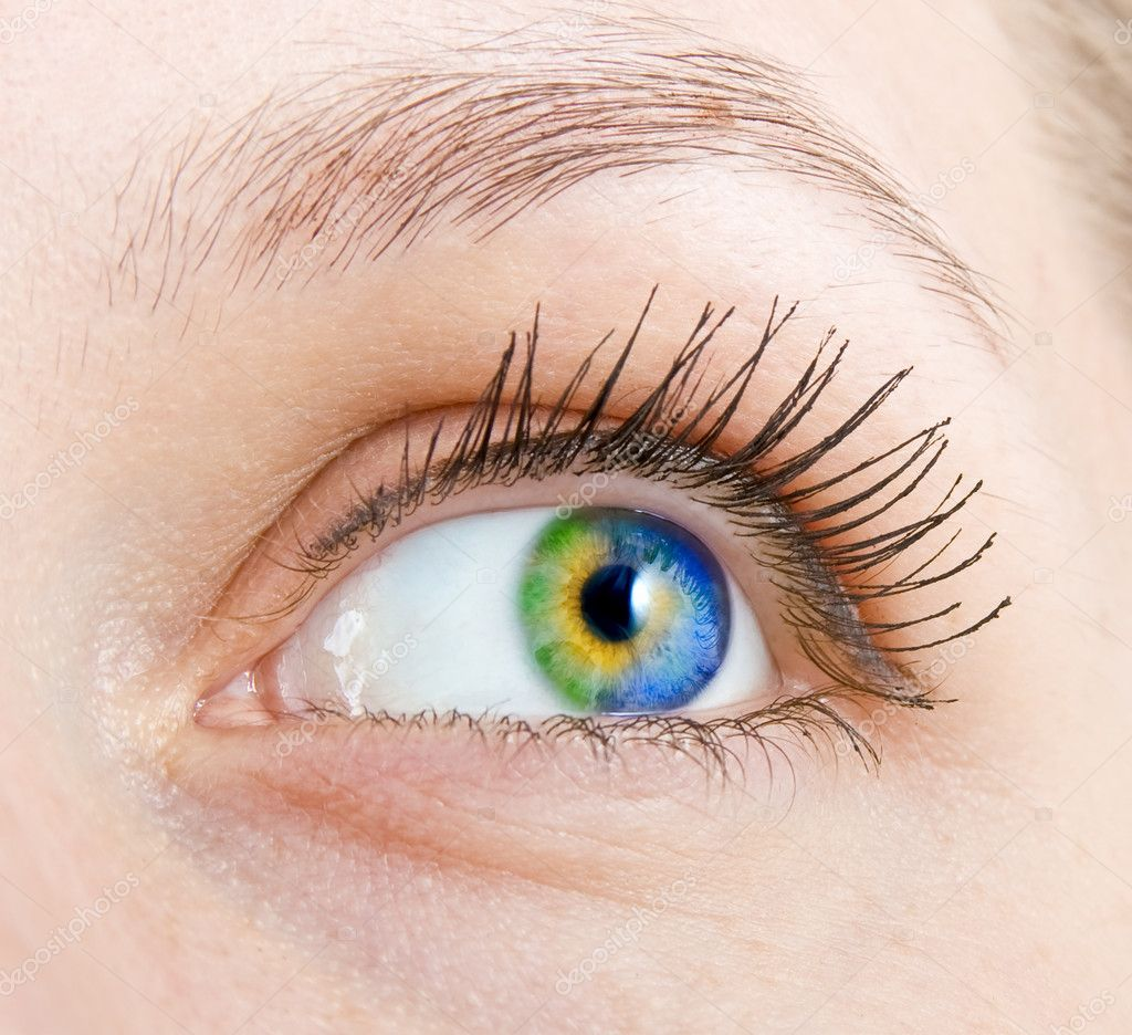 Colourful human eye — Stock Photo #3862946