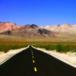Road in lifeless landscape — Stock Photo