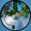 Royalty-Free Stock Photo: Circle panorama of tropicsl beach
