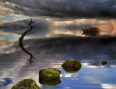 Barcos en el mar — Foto de Stock