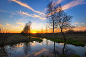 Tramonto fiume — Foto Stock