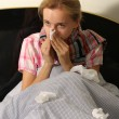 Chilled woman in bed — Stock Photo #2846039