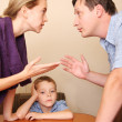 Stock Photo: Conflict in family 2